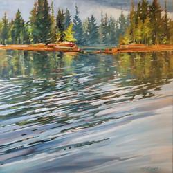 "Touchwood Lake Reflections 24""x24"""