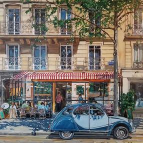 """36""""x36"""" Springtime in Paris"""