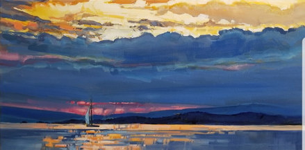 "Evening Sail available through the Lloyd Gallery 12""x24"""
