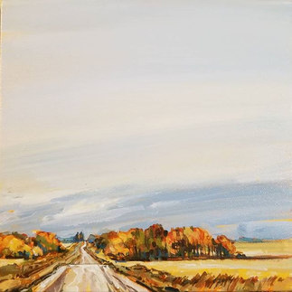 "Country Drive 8""x8"" SOLD"