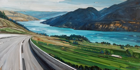 """Kalamalka Lake"" 24""x48"" available through The Lloyd Gallery"