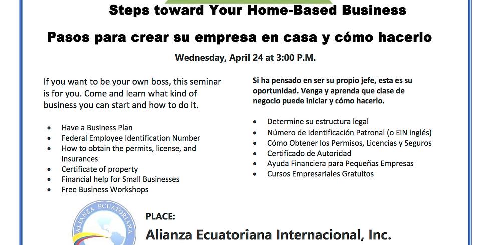 Taller Gratuito: Pasos para crear su empresa en casa