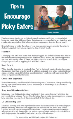 Encourage Picky Eaters