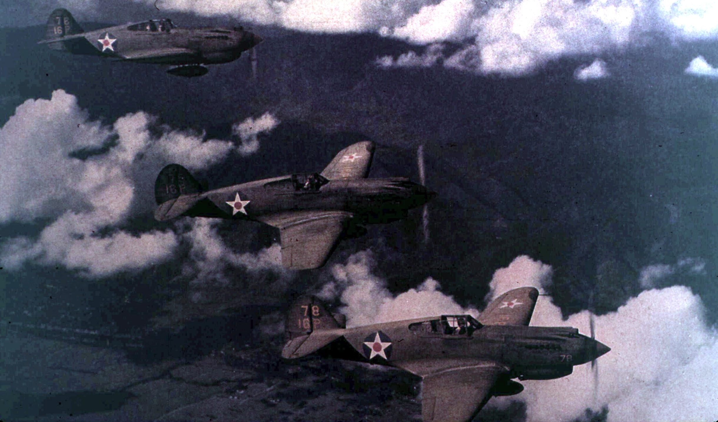 P-40s in color