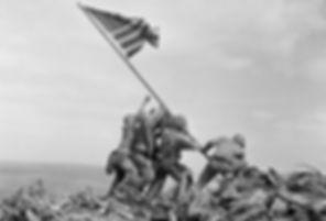 raising Iwo Jima Flag 1945 by Joe Rosent