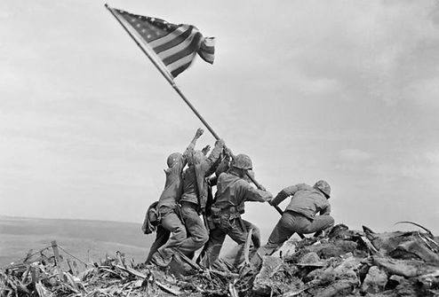 raising Iwo Jima Flag 1945 by Joe Rosent