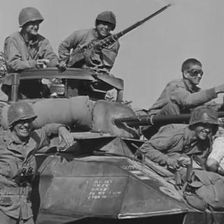 GIs on tank Shot BW .jpg