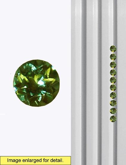 Green Tourmaline 2.5 mm