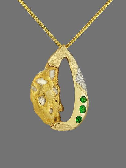 Natural Gold Nugget Pendant