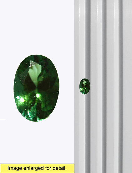 Green Tourmaline 7 x 5 mm