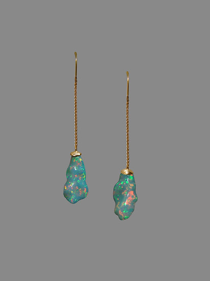 Natural Crystal Opal Earrings