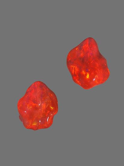 Natural Opal Nugget Earrings