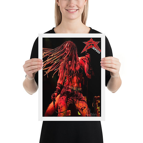 Framed Poster (12x16): Melissa Hair Whip
