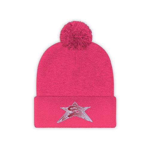 Pink Pom-Pom Beanie