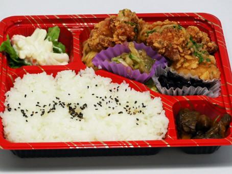 唐揚げ増量の『お肉弁当』とエビチリ入りの『お魚弁当』500円!