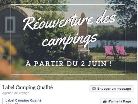 REOUVERTURE DES CAMPINGS