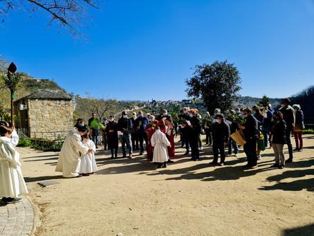 La traditionnelle bénédiction des Rameaux