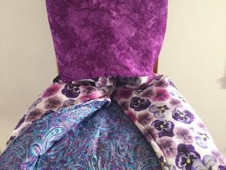 Purple Paisley Pansies