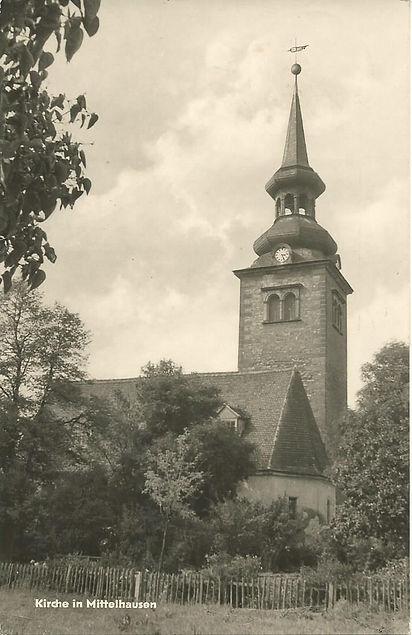 Kirche in Mittelhausen 1965 | Ansichtskarte Pf. Bothfeld