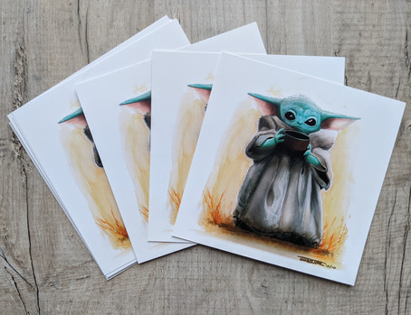 """""""The Child"""" Baby Yoda prints in hand and ready to go!"""