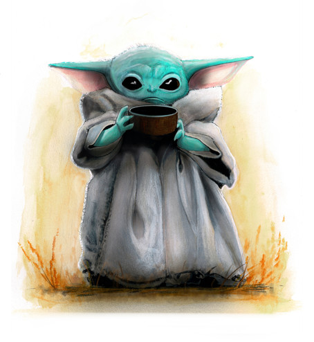"""Baby """"Yoda"""" - The Child - Artwork and Print run!"""
