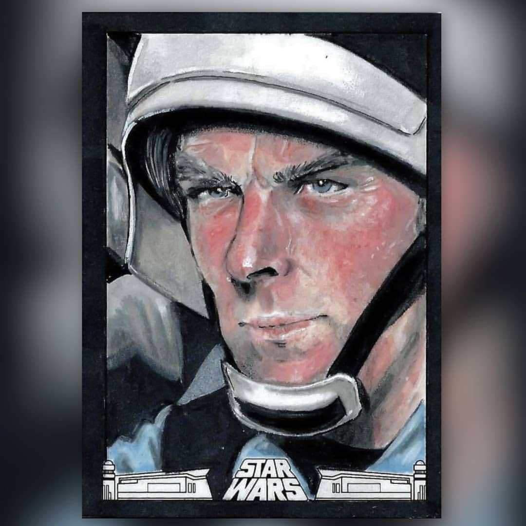 star wars sketch card