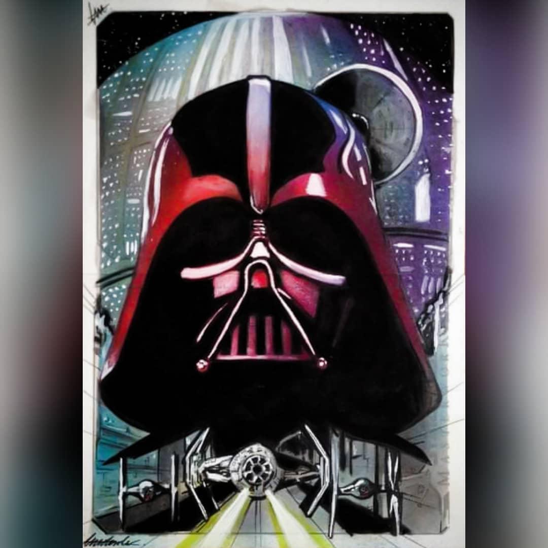 star wars sketch card