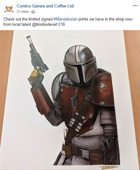 The Mandalorian Prints now available In-store @Comics Games and Coffee!!