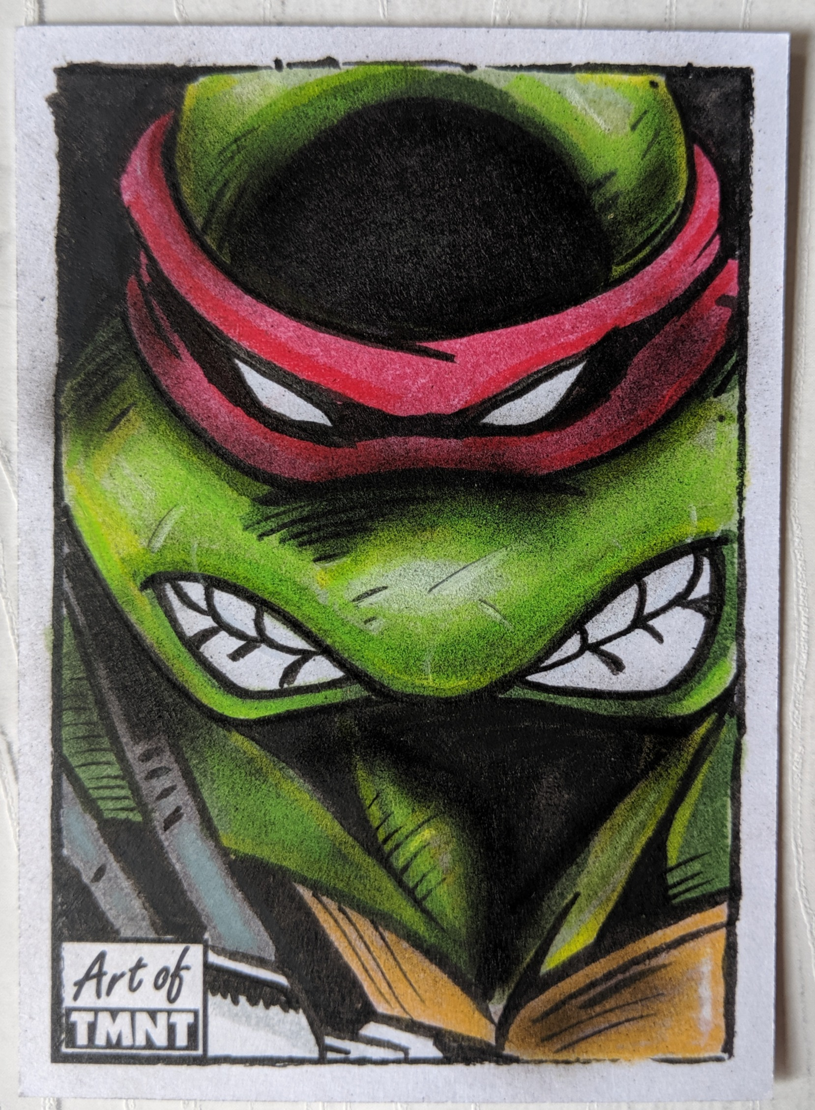 ninja turtles sketch card