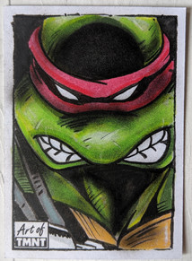 The art of TMNT Sketch Card
