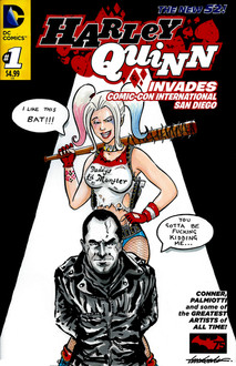 Harley vs Negan Comic Cover