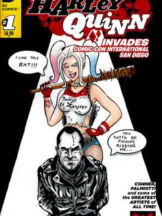 Harley vs Negan Comic Cover