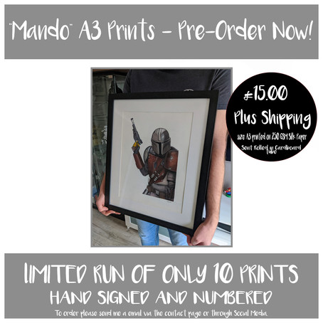 """Mandalorian"" A3 Prints - Available for Pre-Order."