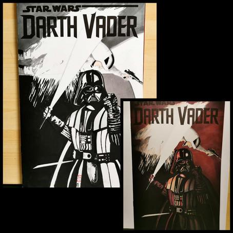 "Sketch Cover ""Vader Unleashed"" W.I.P #2"
