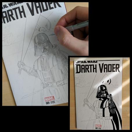 "Sketch Cover ""Vader Unleashed"" W.I.P"