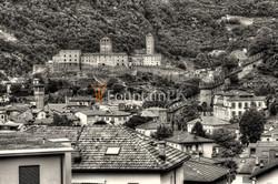 Castelgrande thront über der Stadt