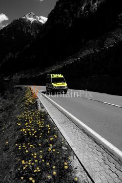 Ambulanz auf Aufwegen