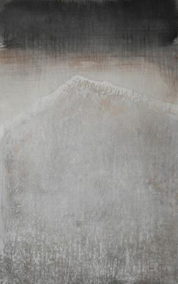 """Hommage à Hokusaï, les 36 vues du Niesen, """"La lumière vacille sur les crêtes enneigées"""""""