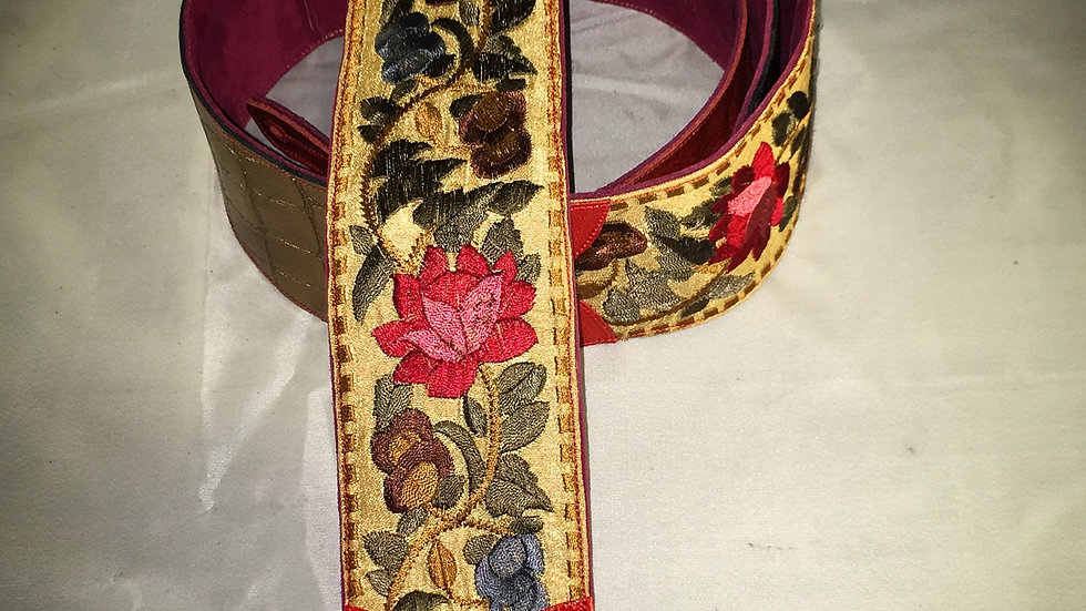 Vintage Fabric Guitar Strap