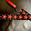 Thumbnail: Red and silver Stars Guitar Strap