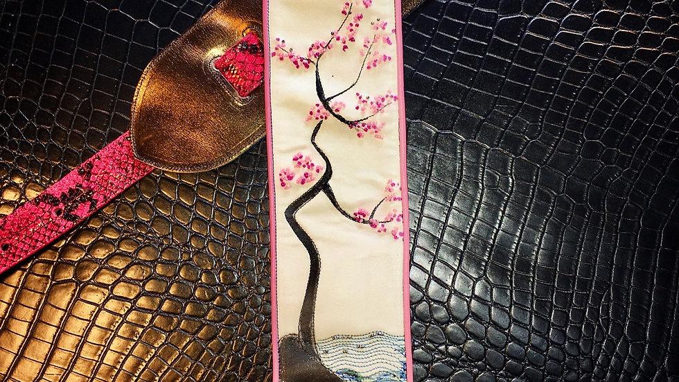 Cherry Blossom Guitar Strap
