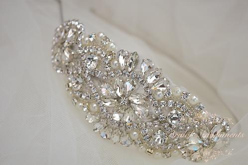 ADELE Crystal Bridal Side Headband