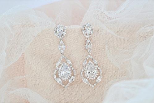 ISABELLA Cubic Zirconia Bridal Earrings