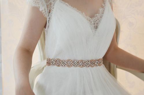 Rose Gold Wedding Dress Belt