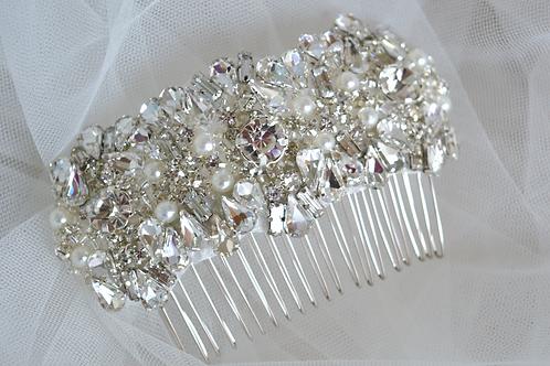 Vintage Inspired Crystal Bridal Haircomb