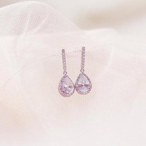 ALICE Silver Cubic Zirconia Bridal Earrings