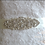 "Thumbnail: ""MINA"" Vintage Inspired Crystal Bridal Sash/Belt"