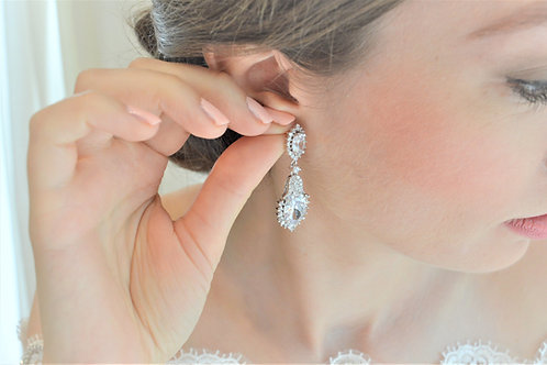 ISLA Cubic Zirconia Bridal Earrings