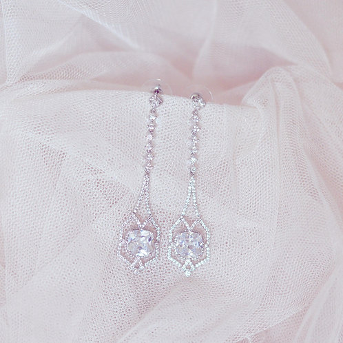 ESMERALDA Stunning Cubic Zirconia Bridal Earrings