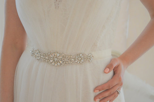 LILITH Vintage Inspired Bridal Sash/Belt